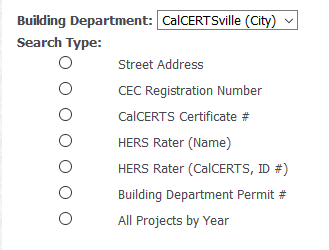 How To Find A Project (Building Department) – CalCERTS
